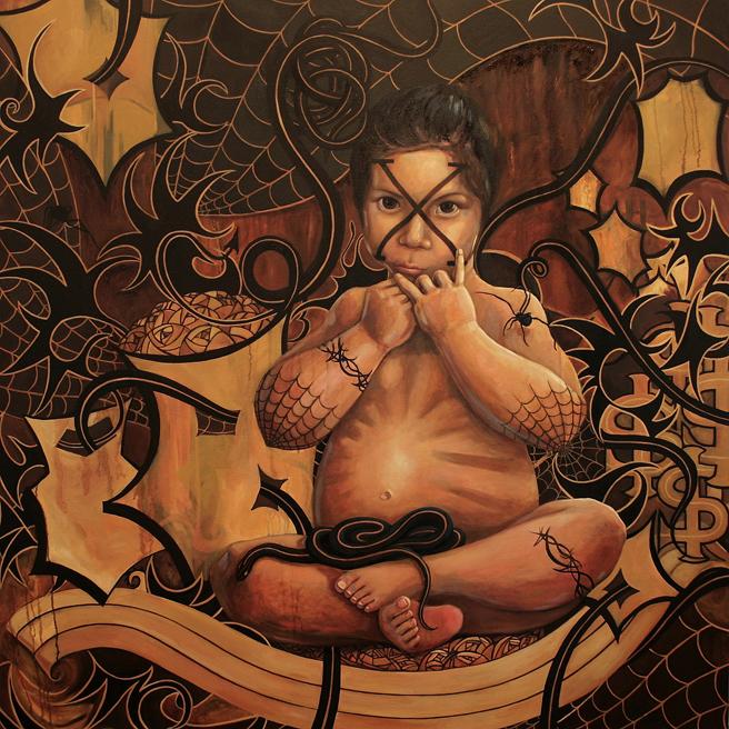 La Niña - 48x48 IN - oil on canvas - Marie Cameron -2016