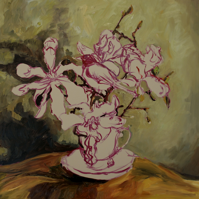 Magnolia Tea I  (WIP) 3 - Marie Cameron 2016