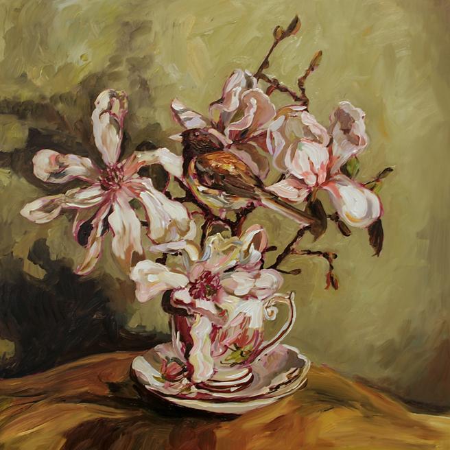 Magnolia Tea I  (WIP) 6 - Marie Cameron 2016