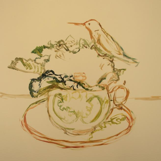 Violet Tea I (WIP 1) Marie Cameron 2016