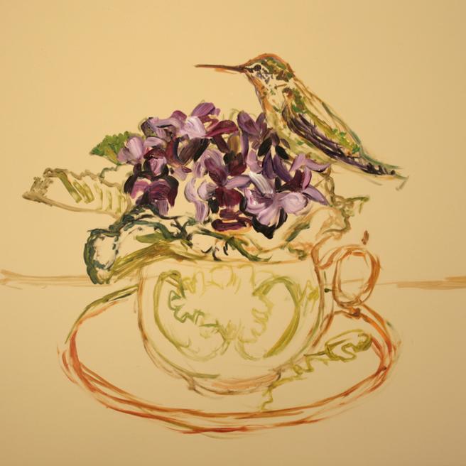 Violet Tea I (WIP 2) Marie Cameron 2016