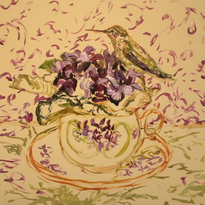 Violet Tea I (WIP 3) Marie Cameron 2016