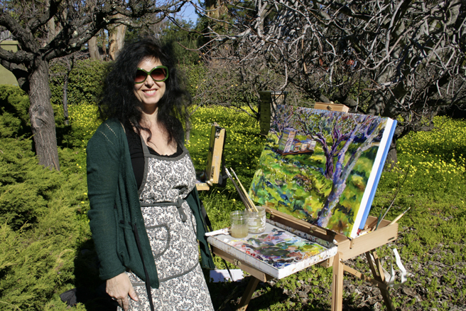 LGAA - Plein Air Painters - Stonesifer - Arzie - Marie Cameron - photo Nancy Takaichi 2016