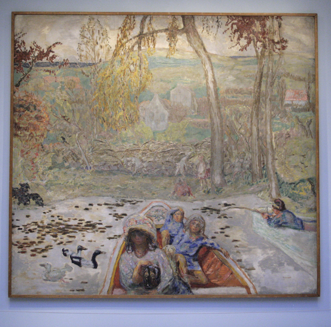 Pierre Bonnard - On the Boat - 1907 - oil on canvas - Pierre Bonnard - Legion of Honor - photo Marie Cameron 2016