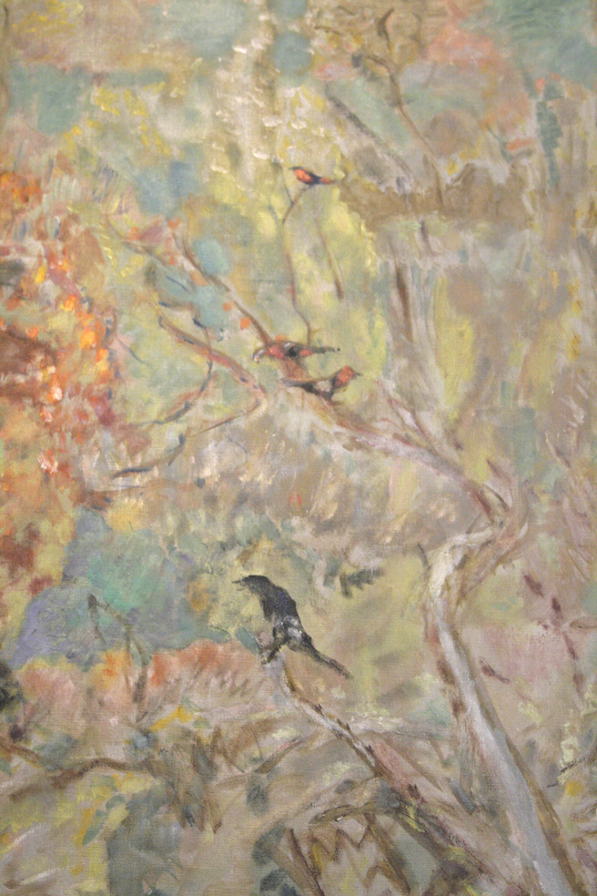 Pierre Bonnard - On the Boat - 1907 - oil on canvas - (bird detail)- Legion of Honor - photo Marie Cameron 2016