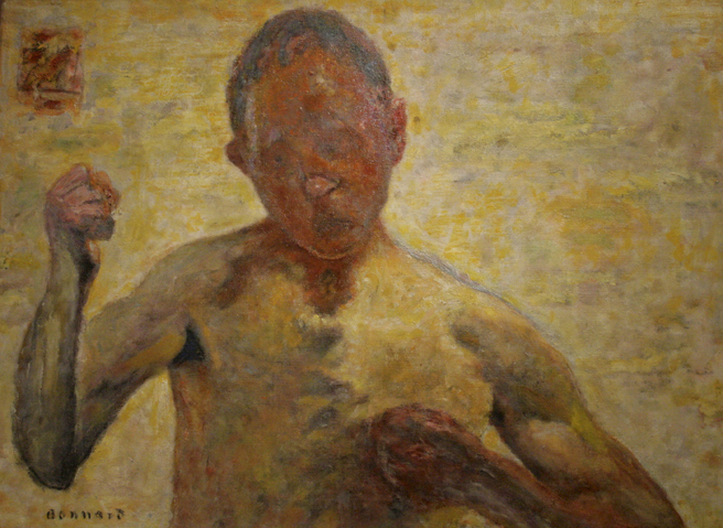 Pierre Bonnard - The Boxer (Portrait of the Artist) -1931- oil on canvas - Legion of Honor - photo Marie Cameron 2016