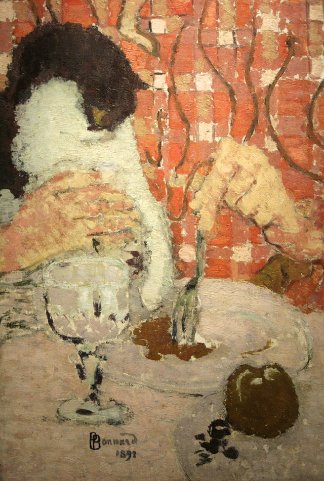Pierre Bonnard - The Checkered Blouse - 1892 - oil on canvas - (detail)- Legion of Honor - photo Marie Cameron 2016
