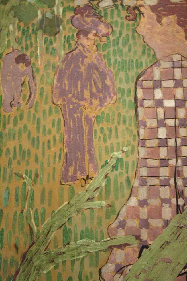 Pierre Bonnard - Woman in Checkered Dress (detail) 1890-91 - distemper on paper mounted on canvas - Legion of Honor - photo Marie Cameron 2016