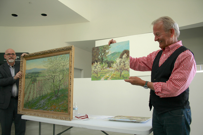 David Stonesifer - Plein Air- Brown Bag Lunch Series- TrIton Museum of Art - photo Marie Cameron 2016 David Stonesifer - Plein Air- Brown Bag Lunch Series- TrIton Museum of Art - photo Marie Cameron 2016  Wores vs Stonesifer