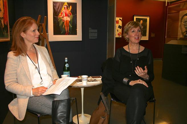 More Than Your Selfie - Curator Marianne McGrath in conversation with artist Elizabeth Barlow - NUMU- photo Marie Cameron 2016