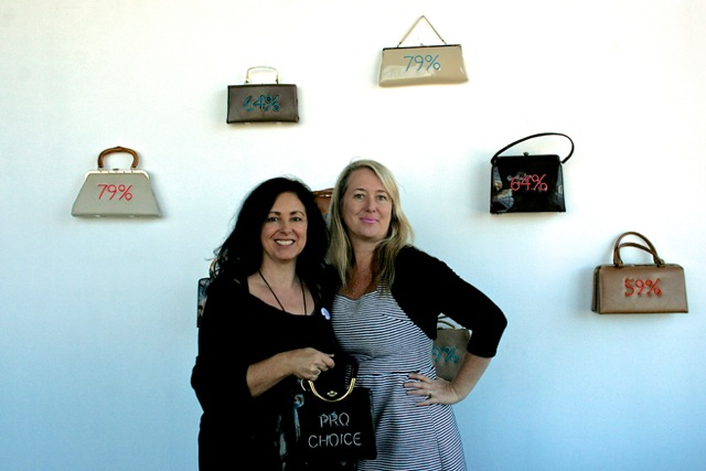 Studio Visit with Michele Pred (Me, Michele & My Purse!) - Marie Cameron 2016