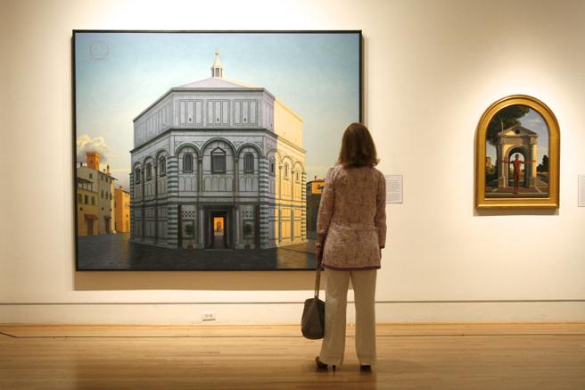 David Ligare - California Classicist - Triton MUseum of Art - Reception 25 - photo Marie Cameron - 2016