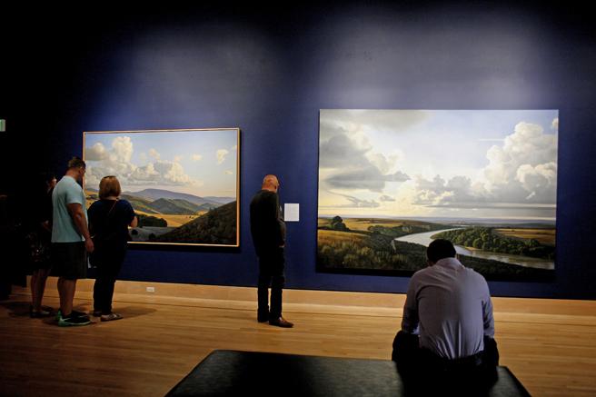 David Ligare - California Classicist - Triton MUseum of Art - Reception 6 - photo Marie Cameron - 2016