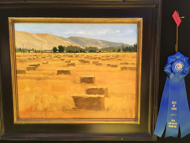 Greg LaRock -Best of Show - Oil - Los Gatos Plein Air Art Show and Sale - photo Marie Cameron - 2016