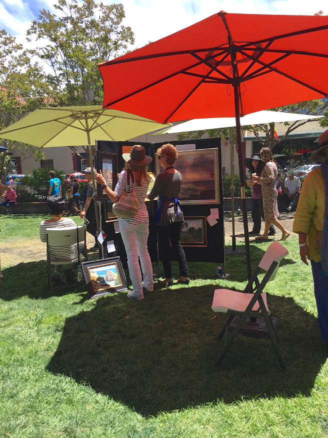 Los Gatos Plein Air Art Show and Sale - 2- photo Marie Cameron - 2016