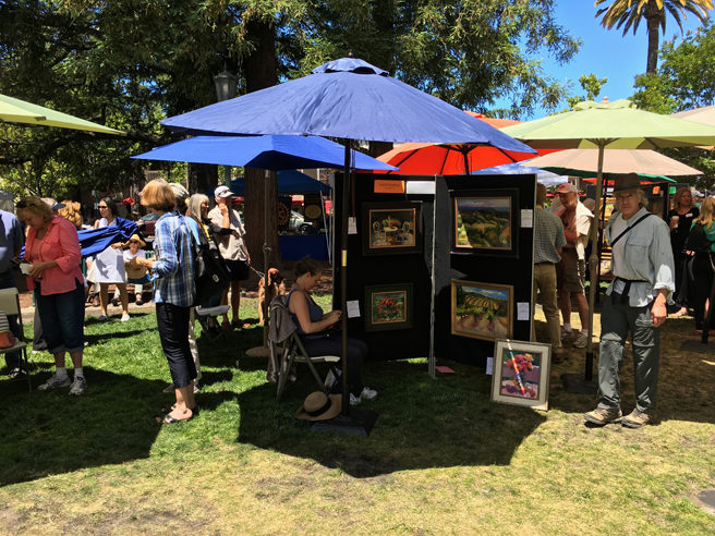 Los Gatos Plein Air Art Show and Sale - photo Marie Cameron - 2016