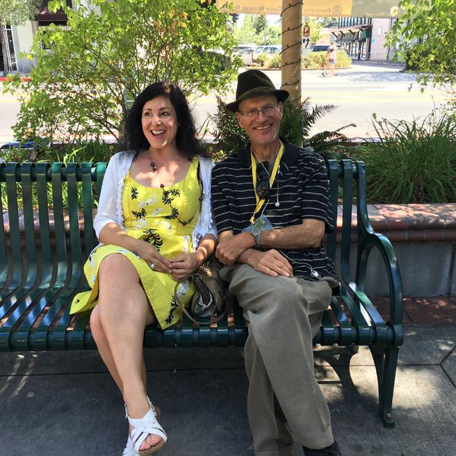 Marie Cameron and Kevin Kasik - Los Gatos Plein Air Art Show and Sale - photo Lorraine Lawson 2016
