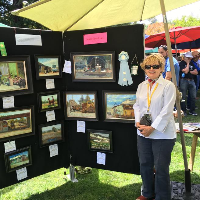 Susan Hall - Los Gatos Plein Air Art Show and Sale - photo Marie Cameron - 2016