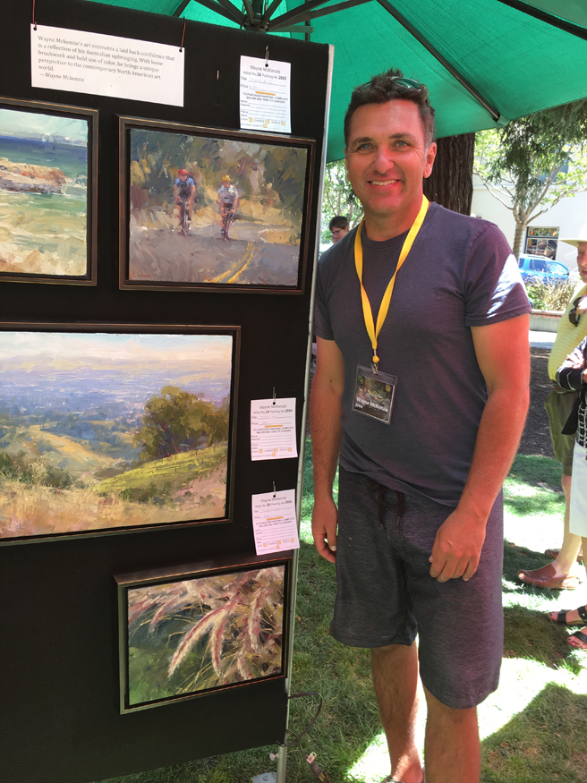 Waye McKenzie- Los Gatos Plein Air Art Show and Sale - photo Marie Cameron - 2016