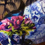 Anemone Tea I WIP detail - Marie Cameron 2016