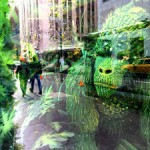 WIndow Display - Bergdorf Goodmans 5th Ave - Green Gorilla - photo Marie Cameron 2016 small