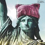 Michael de Adder's Lady Liberty in a Pussyhat 2017 sm