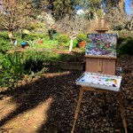 Los Gatos Art Association Plein Air paint out  - La Estancia -  photo Marie Cameron - 2017 - 16 sq
