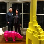 Jihoon Choi and his sculptures at Pacific Art League with Marie Cameron - 2017 sm