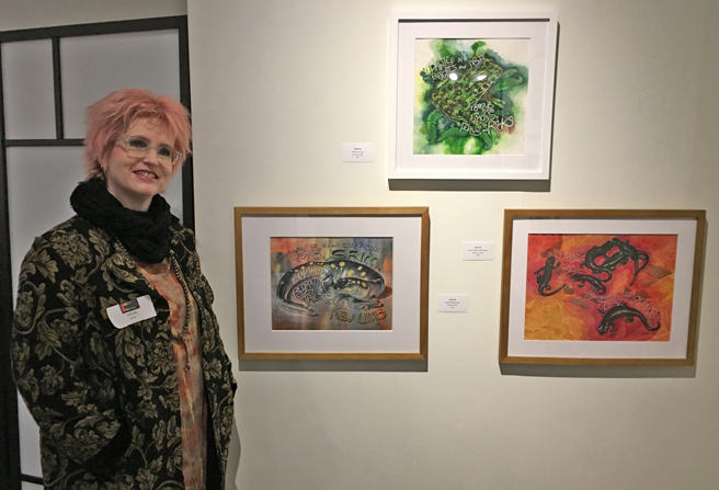 Leah ( Jay)  Jakusovszky - Amphibian Illustrations - Fur, Feathers and Fins - PAL - photo Marie Cameron 2017