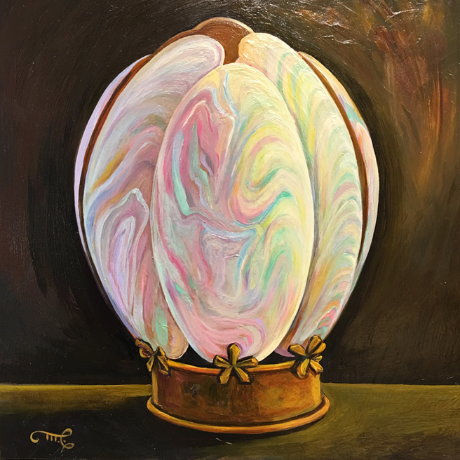 Mother of Pearl Shade - Marie Cameron - Oil on panel - 8x8 in - 2017 - web