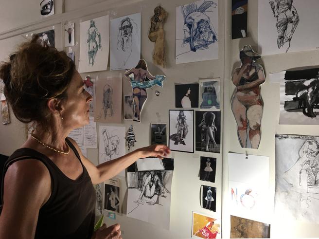 Kim Frohsin Studio Visit -1- photo Marie Cameron 2017