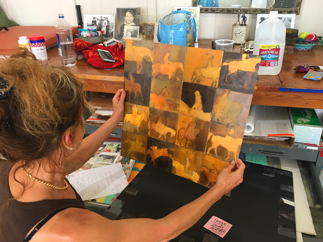 Kim Frohsin Studio Visit -4- photo Marie Cameron 2017