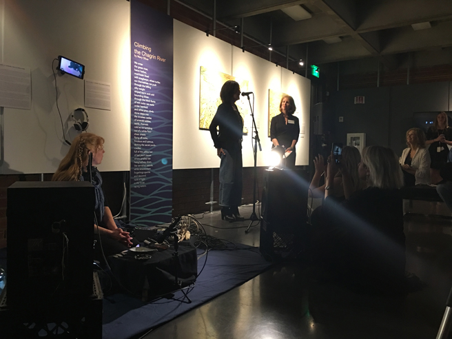 Waterlines - NUMU - Preview Party -Lisa Cosino and Marianne McGrath- 2017
