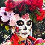 Dia de los Muertos - self portrait  - Marie Cameron 2017 sm