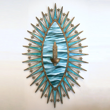 Stilla Maris - Drop of the Sea - Marie Cameron - mixed media assemblage - 55 x 34.5 x 6.5 inches-2016 web sm