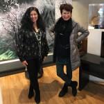 Iwasawa Install Marie Cameron and Kumiko Iwasawa Vadas - photo by Lorraine Lawson - 2018 sm