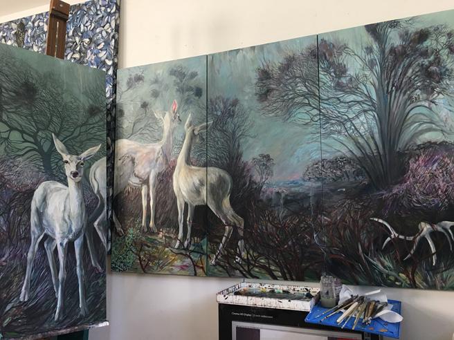 Liminal Deer - Marie Cameron - WIP - 2018 web