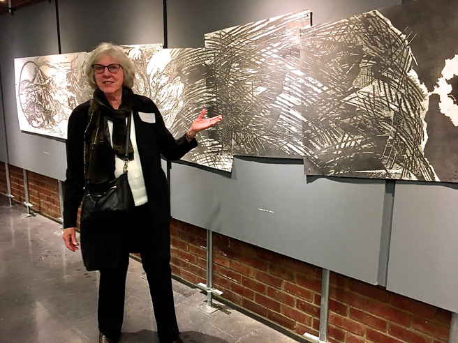 Donna Westerman - Generation - 2015- Woodcut installation - Outside the Frame - NUMU - photo Marie Cameron - 2018
