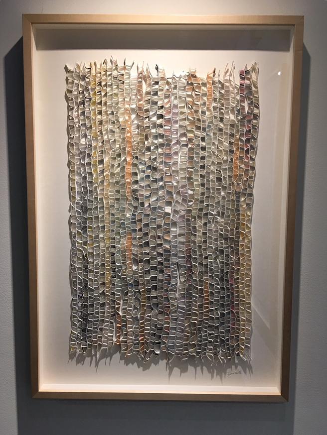 Ewa Gavrielov - Alternating - Mixed media, shredded and flolded paper - Outside the Frame - NUMU - photo Marie Cameron - 2018