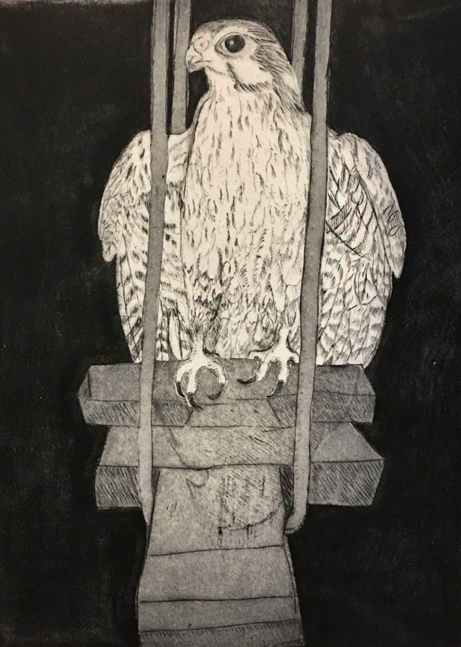 Ginger Crawford Tolonen - Hopscotch Allegories - Accordian artist book, intaglio, drypoint etchings, handmade box - Outside the Frame - NUMU - photo Marie Cameron - 2018