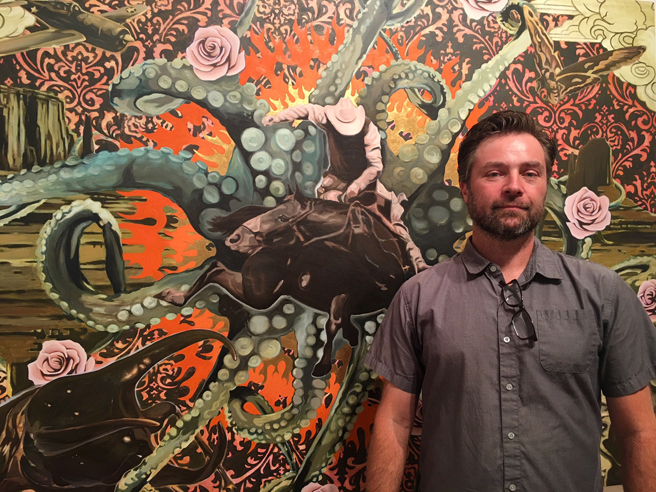 Anthony Riggs -  The Telling of Beautiful Untrue Things - Triton Artist Talk 1 - photo Marie Cameron 2018