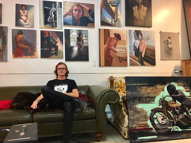 David Flick - Studio Visit - photo Marie Cameron 2018