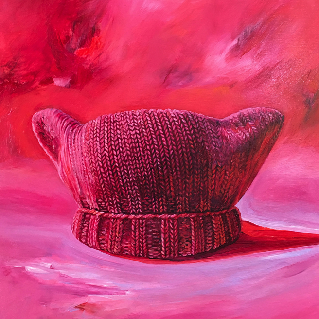 In the Pink - Marie Cameron - 12x12in  - oil on cradled panel - 2017 - web