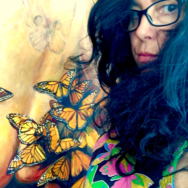 With Butterflies - photo Marie Cameron 2018